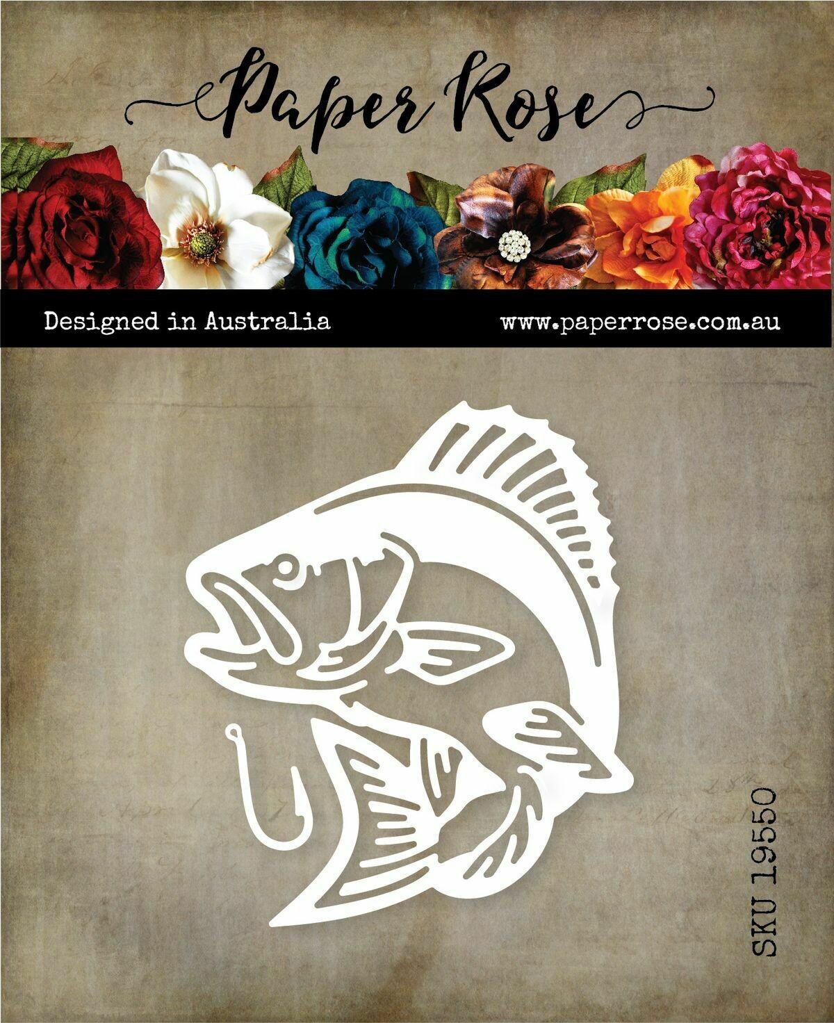 Paper Rose Metal Die - Bass Fish
