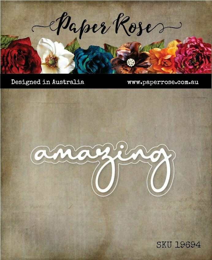 Paper Rose Metal Die - Amazing Fine Script