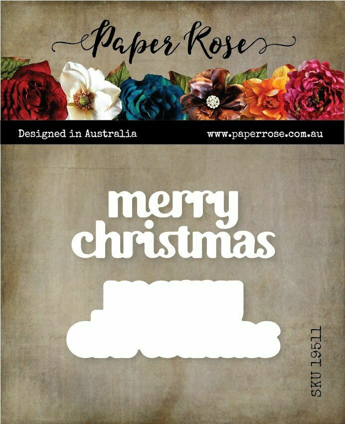 Paper Rose Metal Die - Merry Christmas Chunky