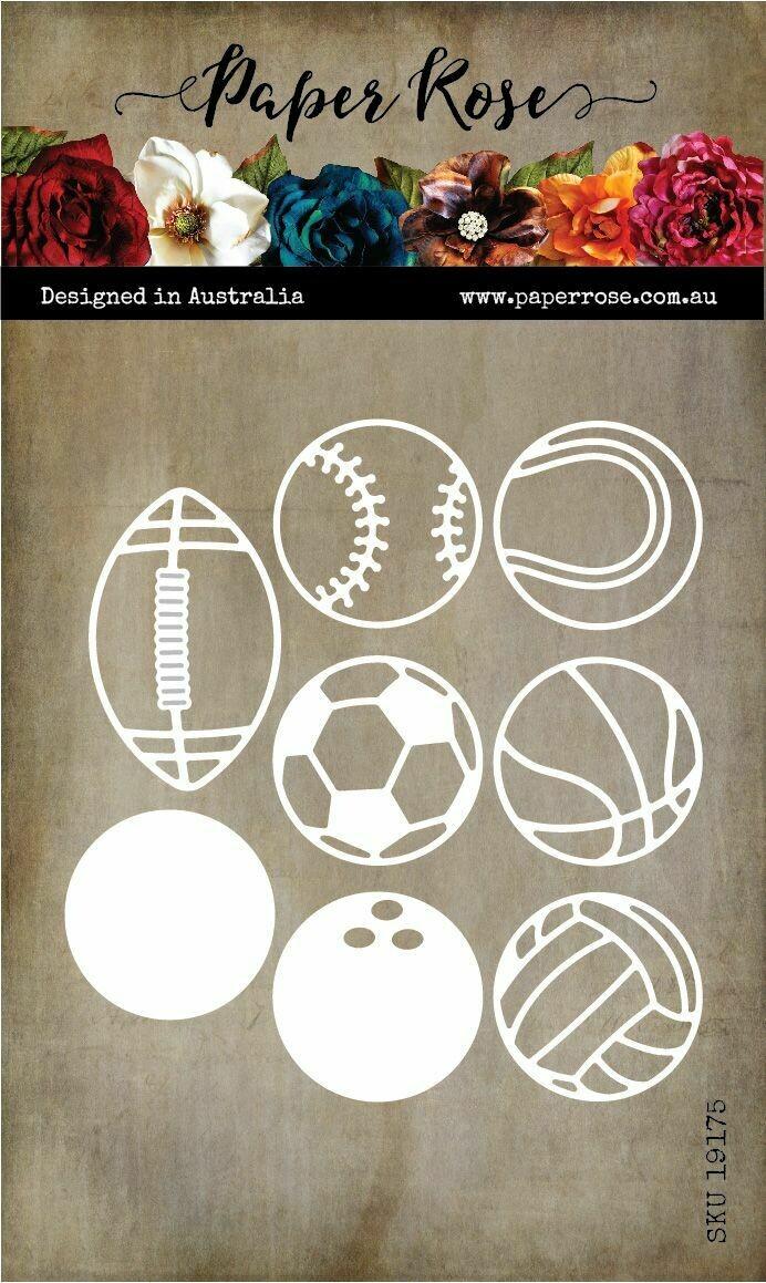 Paper Rose Metal Die - Ball Sports