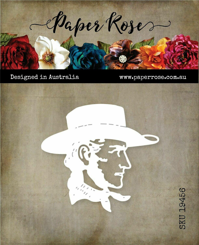 Paper Rose Metal Die - Cowboy Head