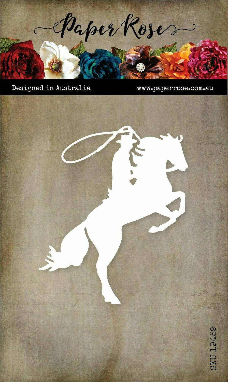 Paper Rose Metal Die - Bucking Horse