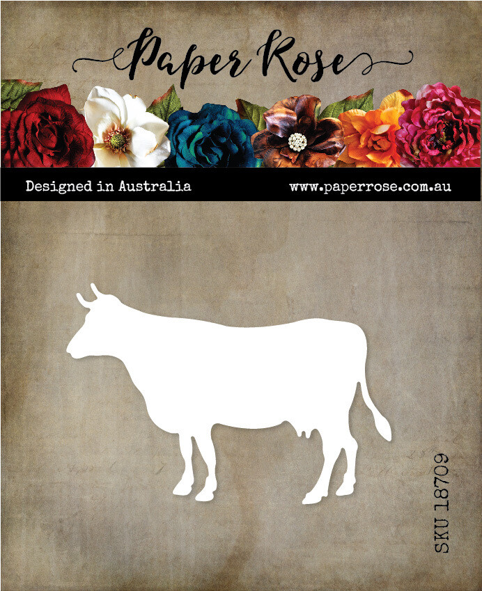 Paper Rose Metal Die- Cow Standing