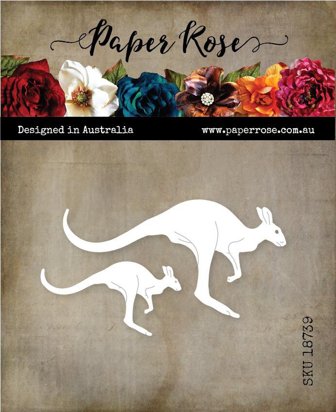 Paper Rose Metal Die- Jumping Kangaroo