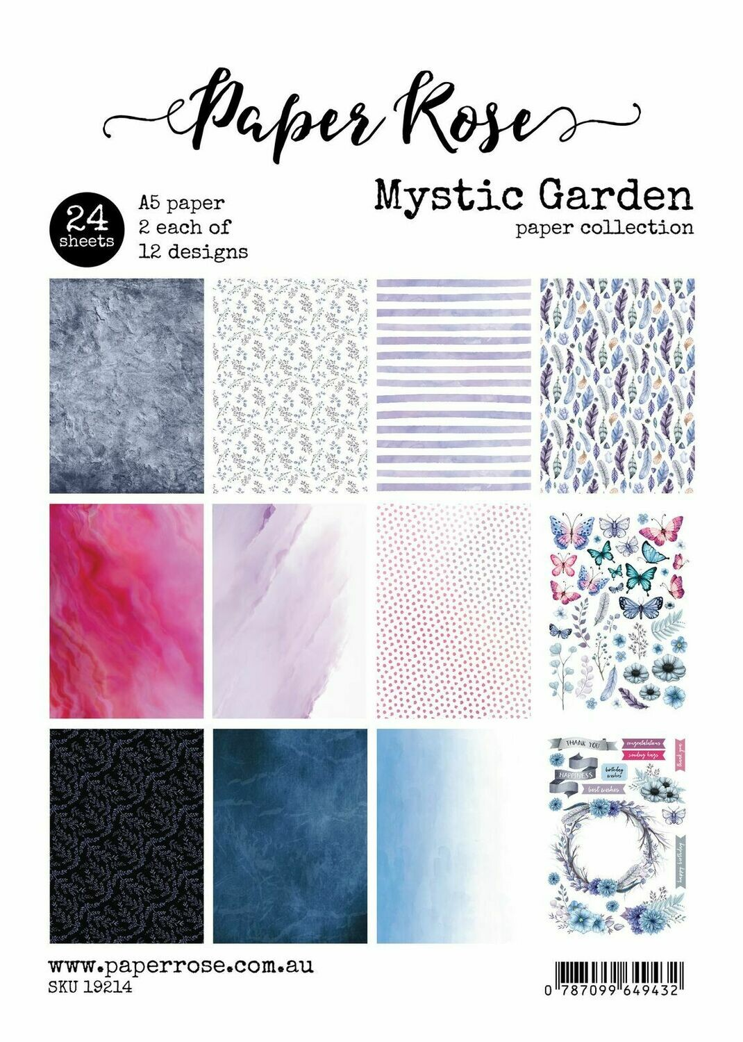 Paper Rose A5 24pc Paper Pack - Mystic Garden