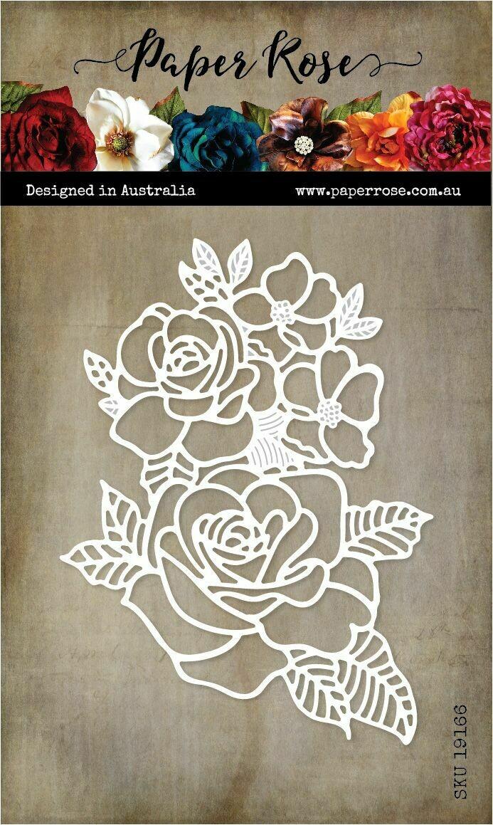 Paper Rose Metal Die - Rose Bloom