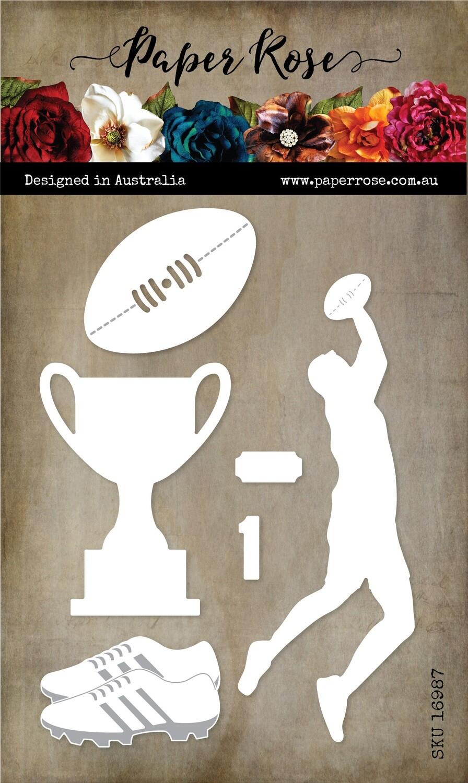 Paper Rose Metal Die- Australian Football