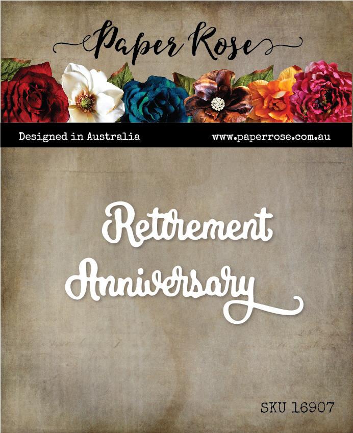 Paper Rose Metal Die- Happy Anniversary Small