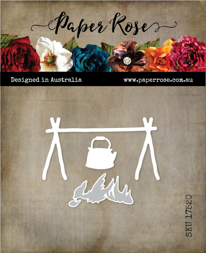 Paper Rose Metal Die- Campfire with Billy
