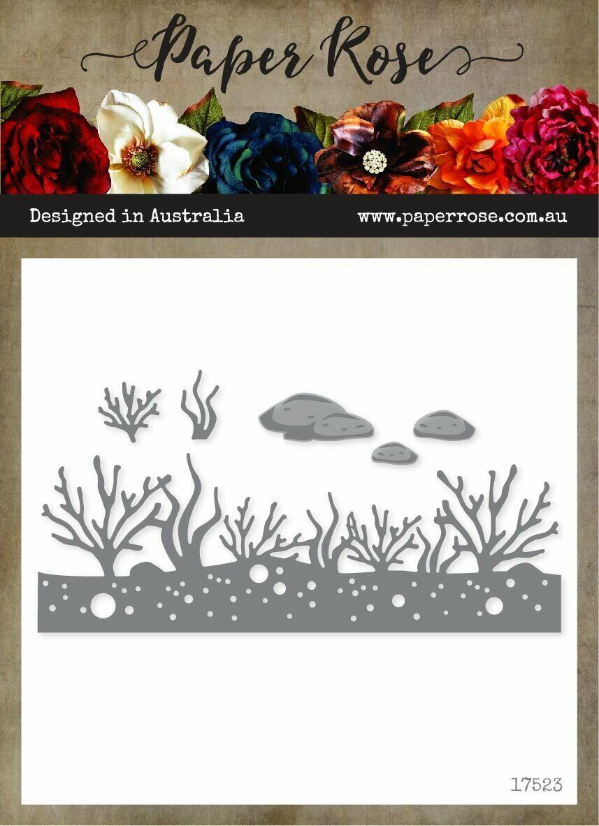 Paper Rose Metal Die- Under the Sea Border