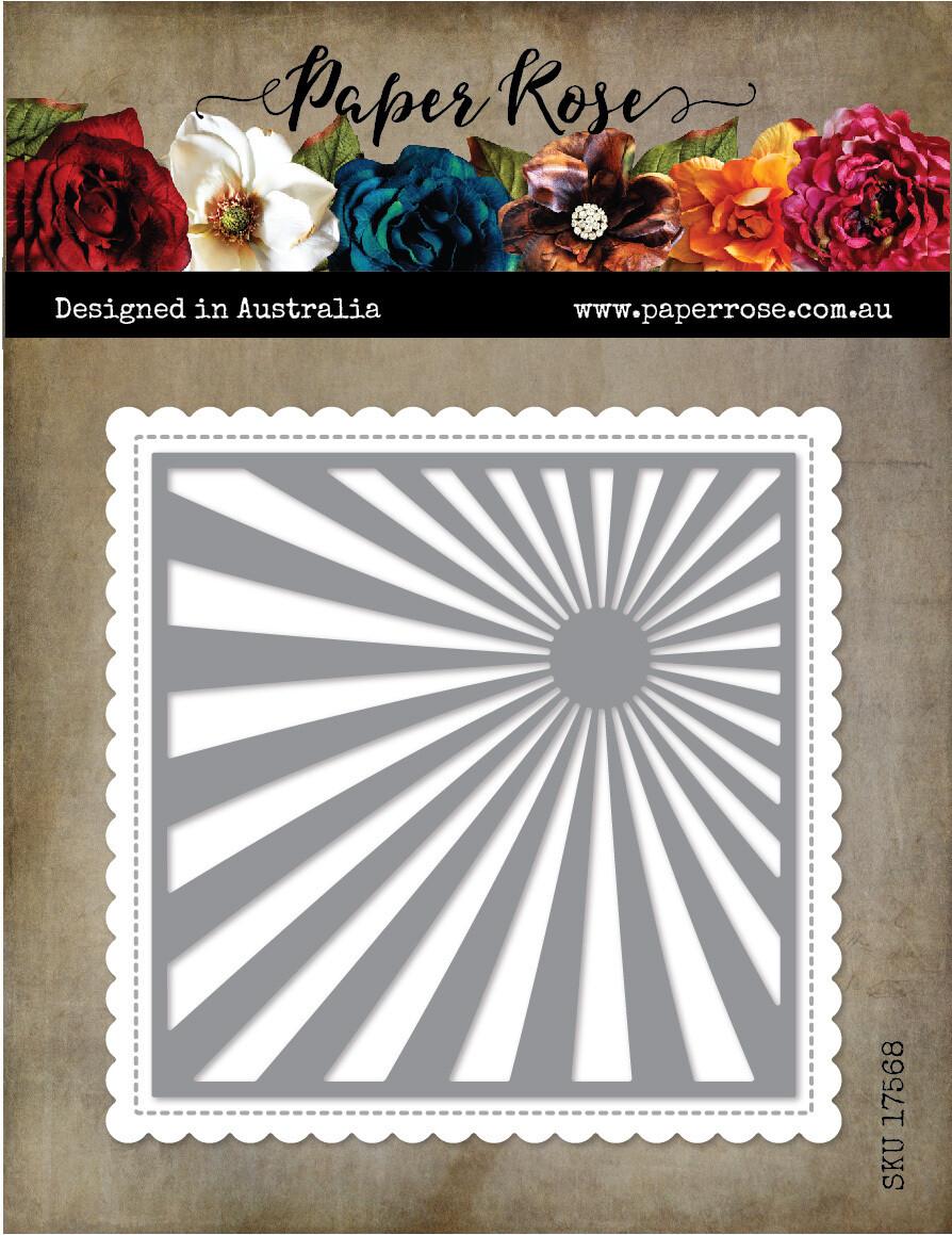 Paper Rose Metal Die- Sunray Background