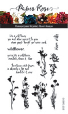 Paper Rose Clear Stamp Set - Wildflowers