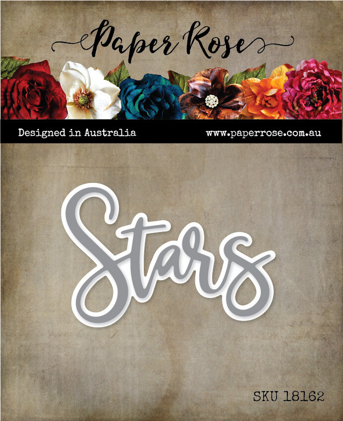 Paper Rose Metal Cutting Die - Stars Word