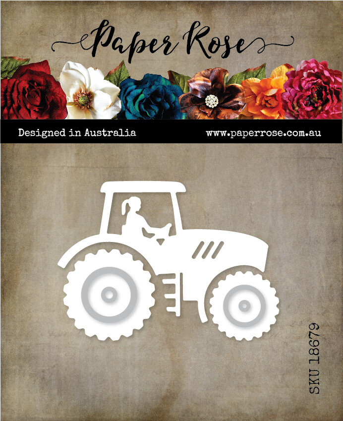 Paper Rose Metal Cutting Die - Tractor Lady