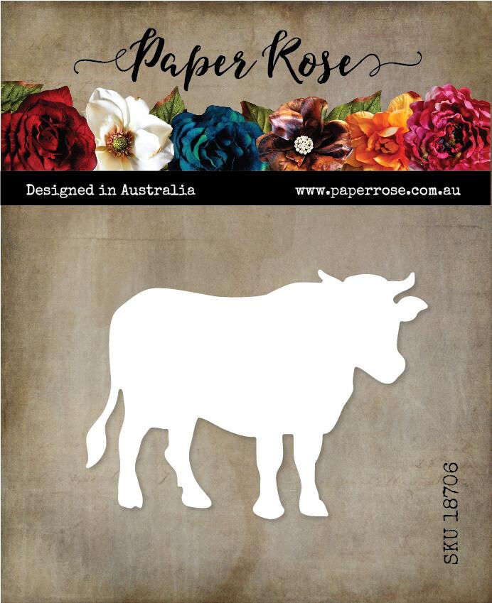 Paper Rose Metal Cutting Die - Cow Large