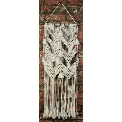 Macrame Wall Hanger Kit - Chevron & Tassels