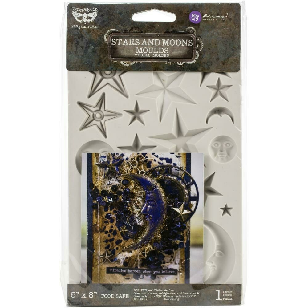 """Prima Marketing Decor Mould - Stars and Moons by Finnabair 5""""×8"""""""