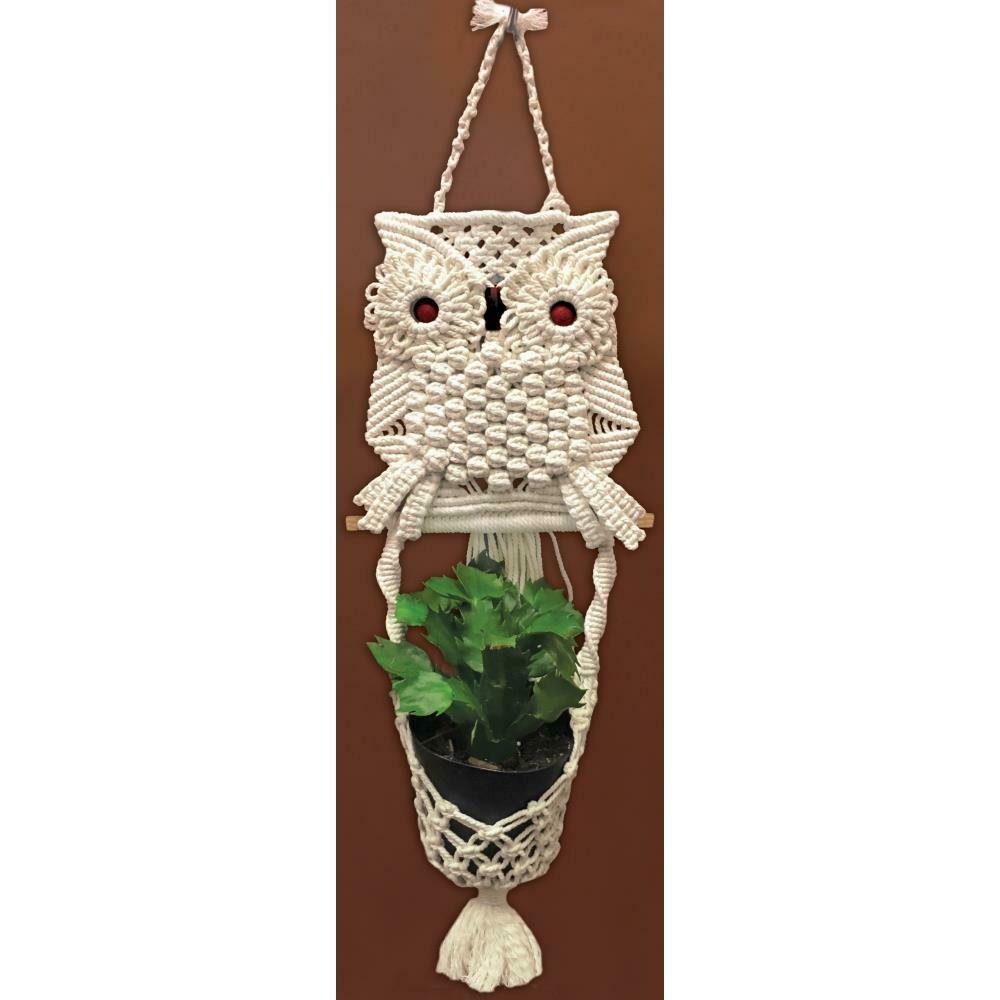 Zenbroidery Macrame Wall Hanging Kit - Owl Planter