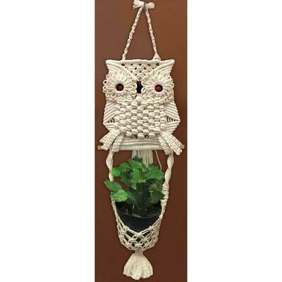 Zenbroidery Macrame Wall Hanging Kit - Owl Planter