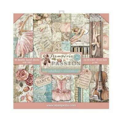 Passion - Stamperia Double-sided Paper Pad 12