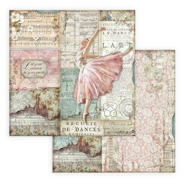 """Passion - Ballet Dancer - Stamperia Double-sided Cardstock 12""""x12"""""""