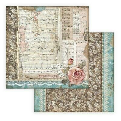Passion - Roses and Music - Stamperia Double-sided Cardstock 12