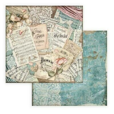 Passion - Scores - Stamperia Double-sided Cardstock 12