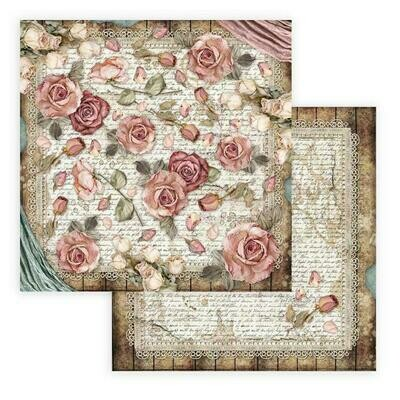 Passion - Roses and Laces - Stamperia Double-sided Cardstock 12