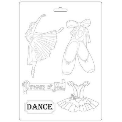 Stamperia A4 Soft Mould - Passion Collection - Dancer