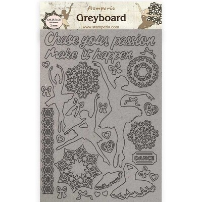 Stamperia Passion Dancer - Greyboard Cut-Outs