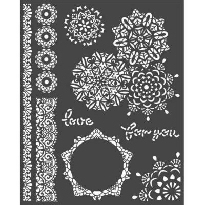Stamperia Thick Stencil 20x25 cm - Passion Collection - Laces