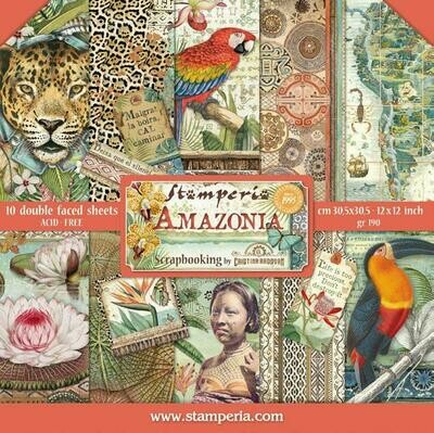 Amazonia - Stamperia Double-sided Cardstock 12