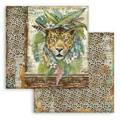 Amazonia - Jaguar - Stamperia Double-sided Cardstock 12