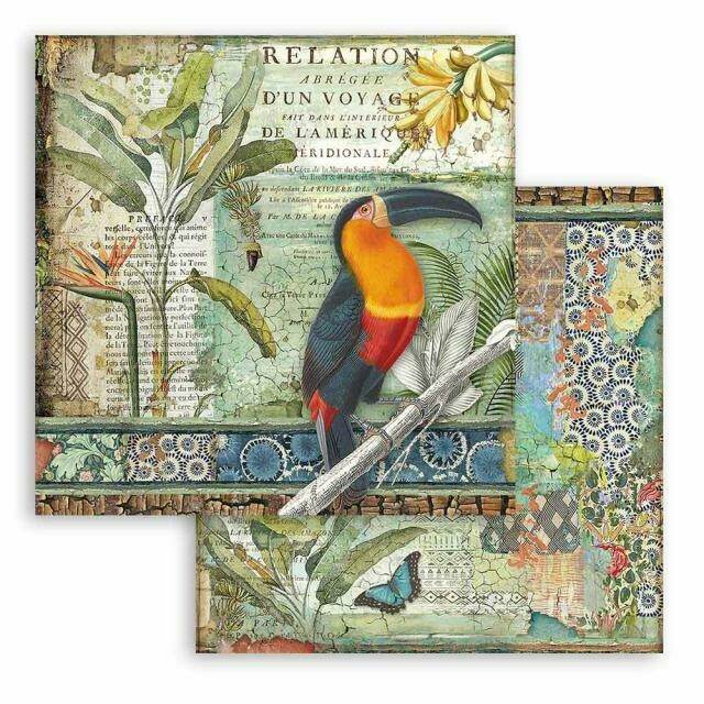 """Amazonia - Toucan - Stamperia Double-sided Cardstock 12""""x12"""""""