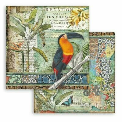 Amazonia - Toucan - Stamperia Double-sided Cardstock 12