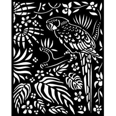 Stamperia Thick Stencil 20x25 cm - Amazonia Collection - Parrot