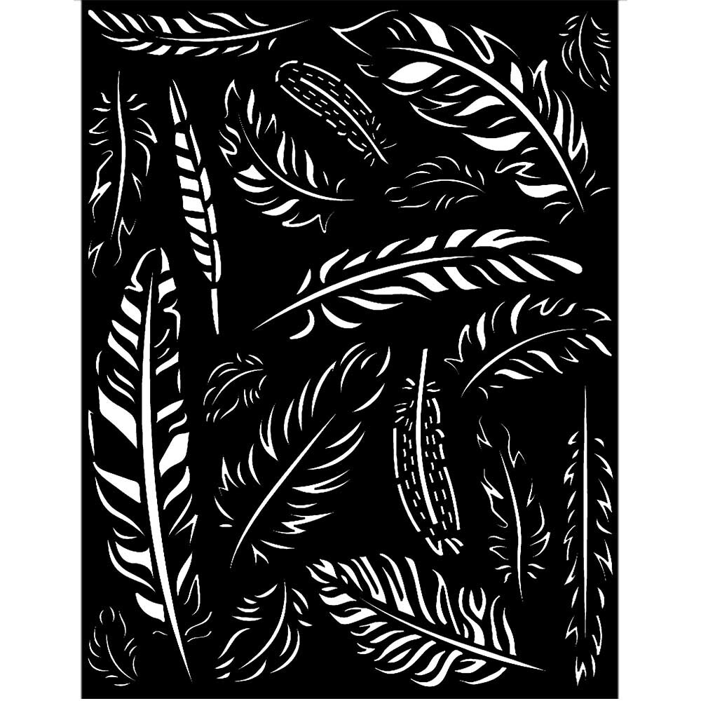 Stamperia Thick Stencil 20x25 cm - Amazonia Collection - Feathers