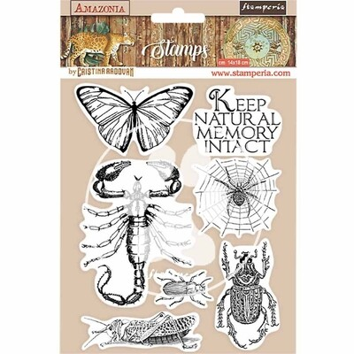 HD Natural Rubber Stamp 14x18 cm - Amazonia Collection - Butterfly