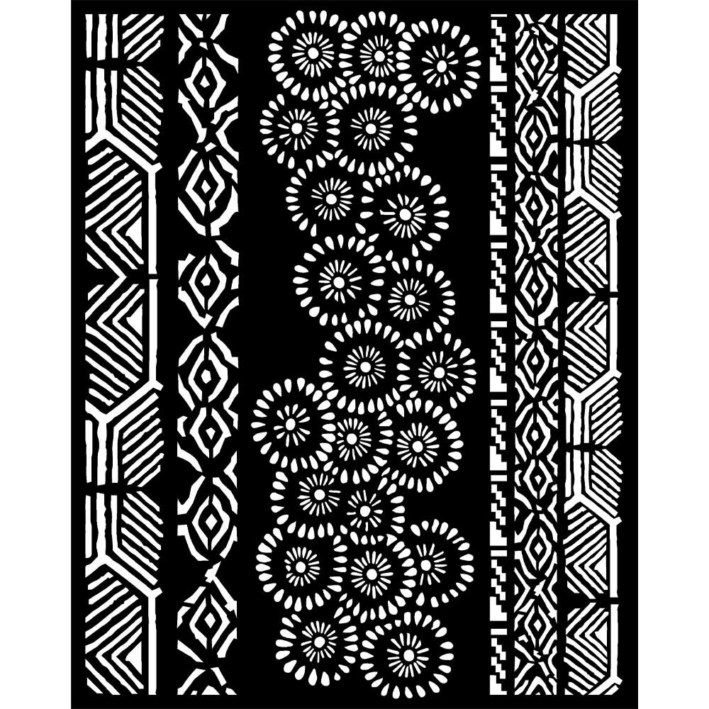Stamperia Thick Stencil 20x25 cm - Amazonia Collection - Tribals