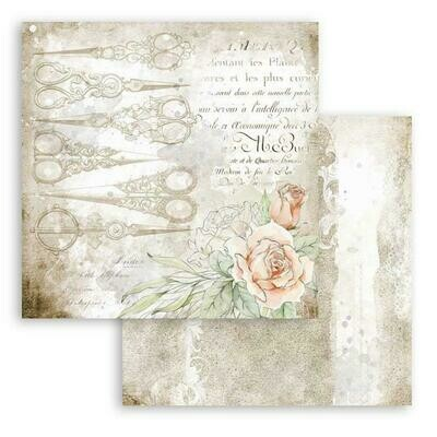 Romantic Collection - Threads - Siccors - Stamperia Double-sided Cardstock 12