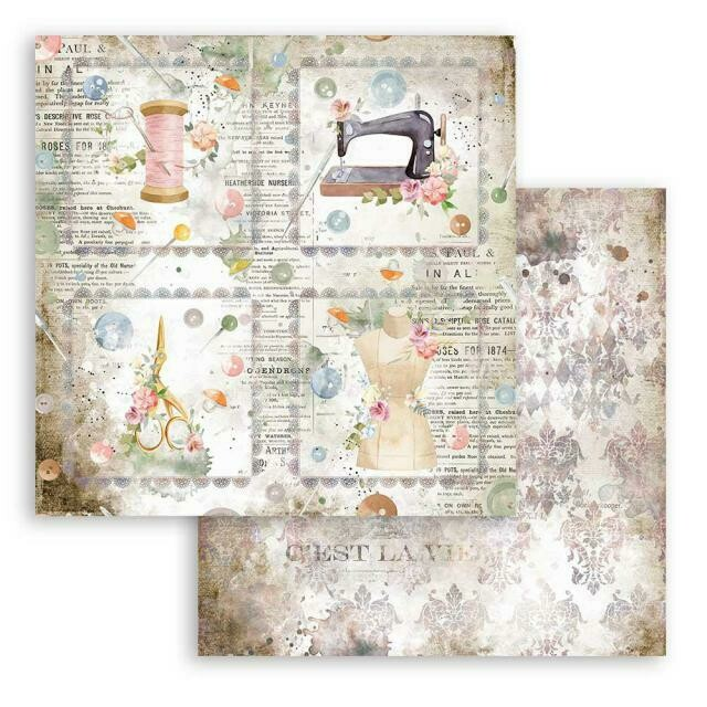 """Romantic Collection - Threads - Cards - Stamperia Double-sided Cardstock 12""""x12"""""""
