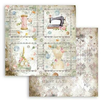 Romantic Collection - Threads - Cards - Stamperia Double-sided Cardstock 12