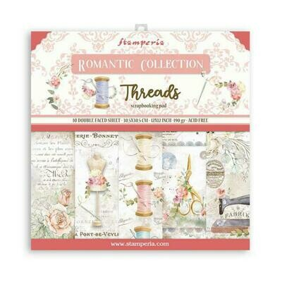 Romantic CollectionThreads - Stamperia Double-sided Cardstock - 12