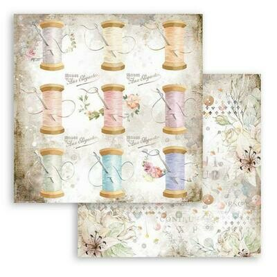 Romantic collection - Threads -Threads - Stamperia Double-sided Cardstock 12