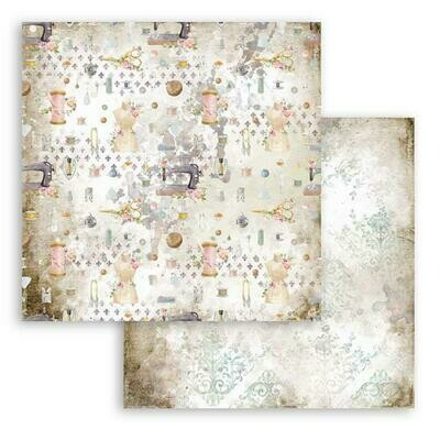 Romantic Collection - Threads - Texture - Stamperia Double-sided Cardstock 12