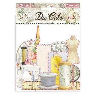 Stamperia Die cuts - Romantic collection - Threads