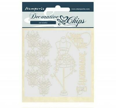 Stamperia - Decorative Chips - Romantic Collection- Threads