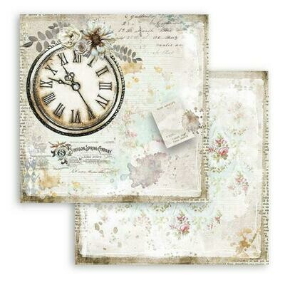 Romantic Collection - Journal - Clock - Stamperia Double-sided Cardstock 12