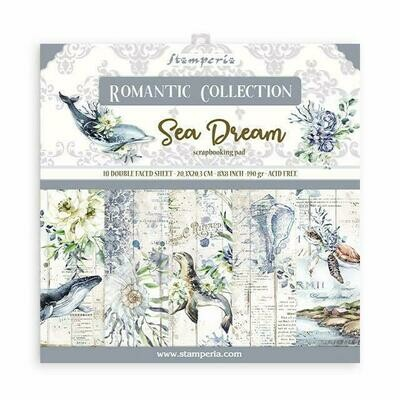 Romantic Collection - Sea Dream - Stamperia Double-sided Cardstock 8