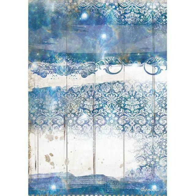 Stamperia A4 Rice Paper Sheet - Romantic Collection - Sea Dream - Texture
